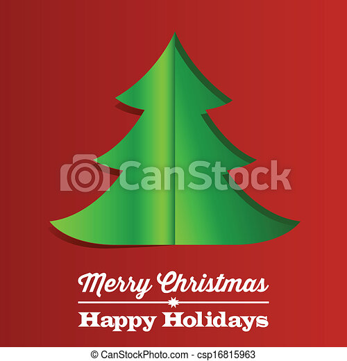 Christmas Tree Paper Background - csp16815963