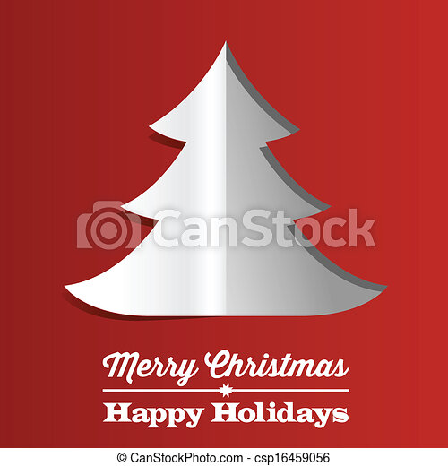 Christmas Tree Paper Background - csp16459056