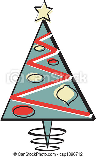 christmas tree retro vintage 1950s christmas tree in retro rh canstockphoto com