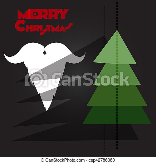 Christmas tree, Santa Claus - csp42786080