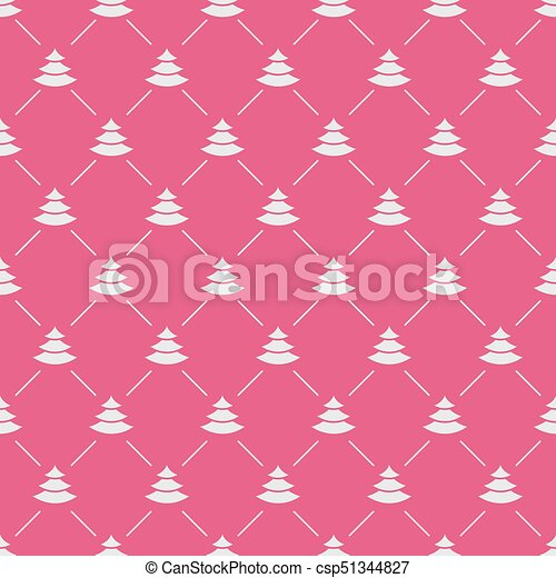 Christmas tree seamless pattern white color on pink background for christmas tree seamless pattern white color on pink background for product promotion csp51344827 m4hsunfo