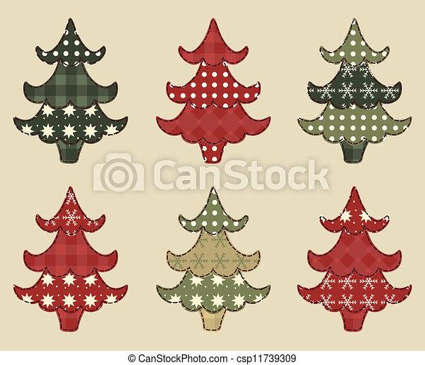 Christmas tree  set 1 - csp11739309