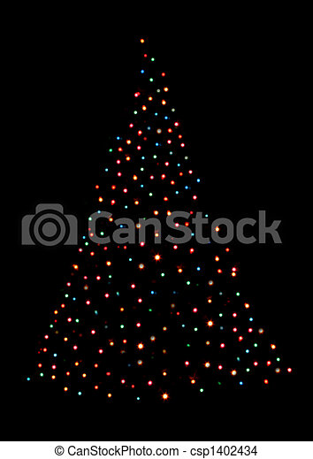 Stock Photo Of Christmas Tree Shaped With Lights A Christmas  - Christmas Tree Shaped Lights