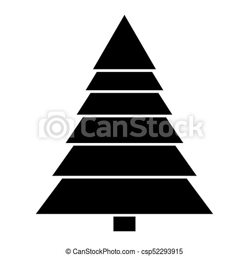 Christmas Tree Clipart Silhouette.Christmas Tree Silhouette Isolated On White Background