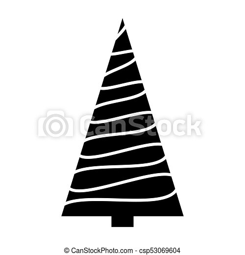 Christmas Tree Clipart Silhouette.Christmas Tree Simple Silhouette Design Isolated On White