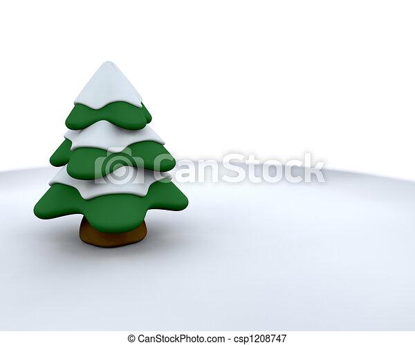 Christmas tree - csp1208747