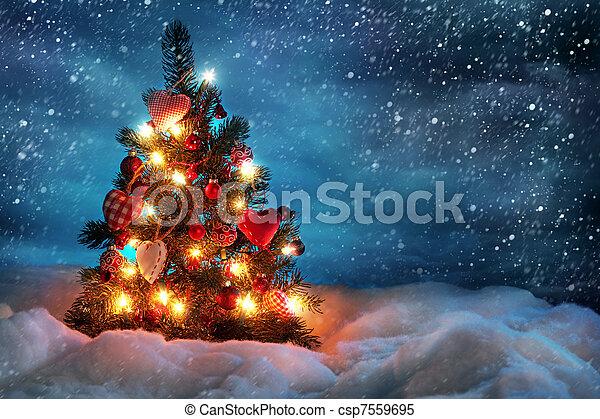 Christmas tree - csp7559695