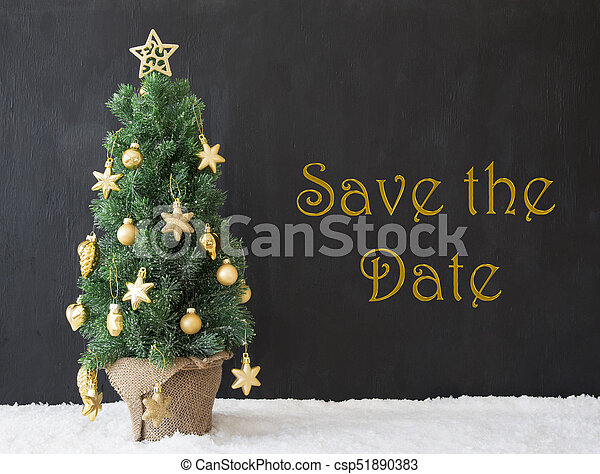 Christmas Save The Date Graphics.Christmas Tree Text Save The Date Black Concrete