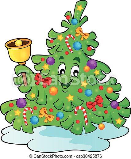 Christmas tree topic image 4 - csp30425876