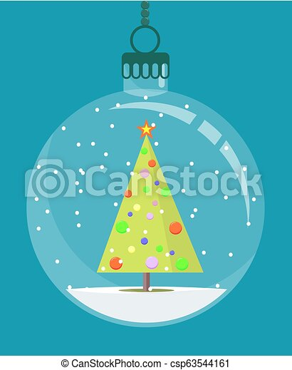 Christmas tree toy. Stock flat vector illustration. - csp63544161