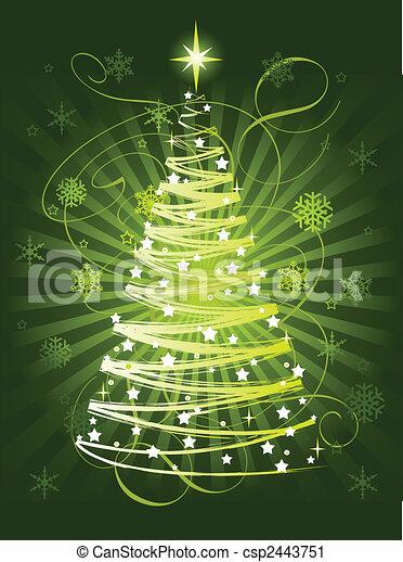 Christmas tree - csp2443751