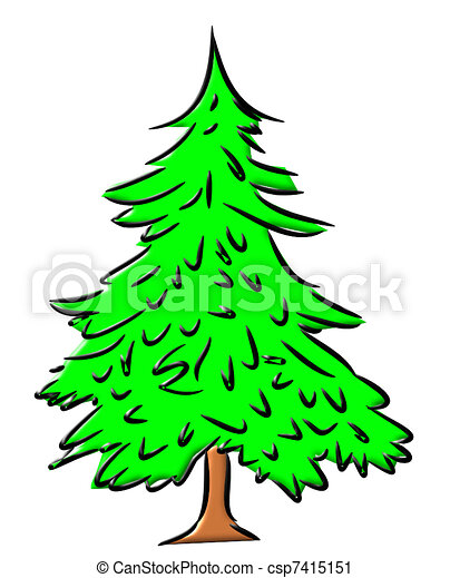 christmas tree bright green christmas pine tree with no vector rh canstockphoto com pine tree graphic images pine tree graphics free