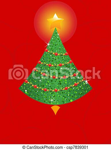 Christmas tree - csp7839301