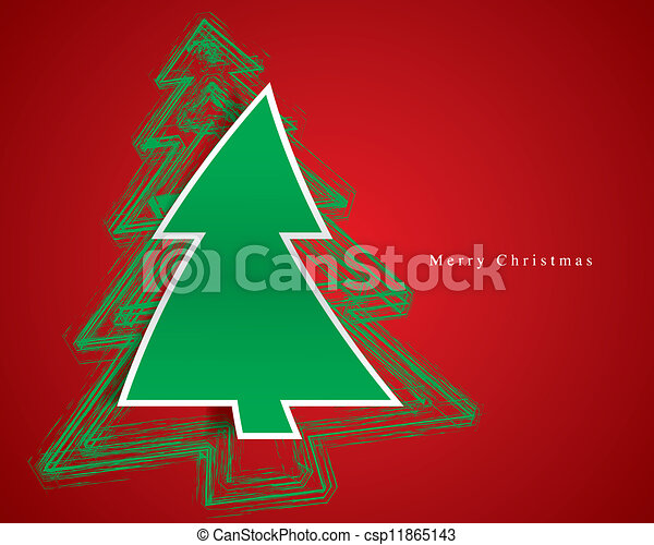 Christmas tree vector - csp11865143