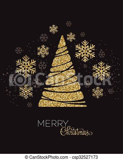 Christmas Tree Vector Greeting