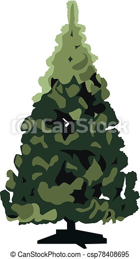 christmas tree vector illustration isolated - csp78408695