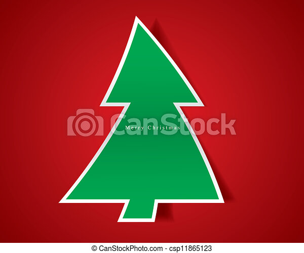 Christmas tree vector - csp11865123