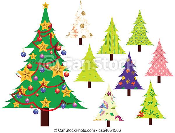Christmas tree vector image - csp4854586