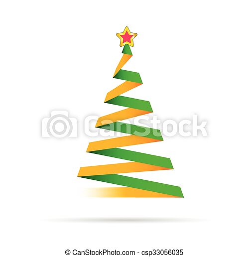 Colorful Christmas Tree Vector.Christmas Tree Vector With Star