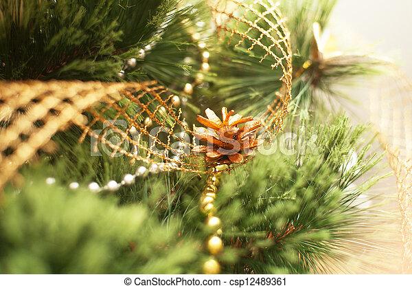 Christmas tree with bump - csp12489361