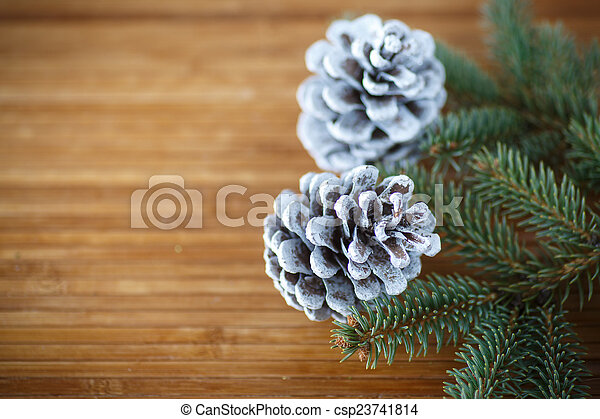 Christmas tree with cones - csp23741814