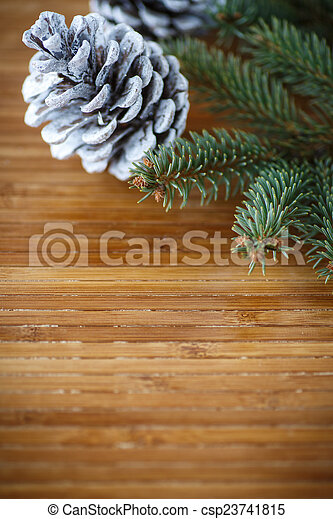 Christmas tree with cones - csp23741815
