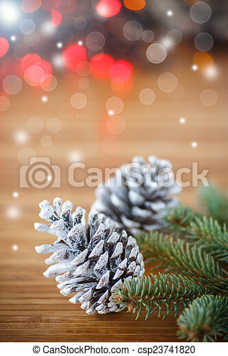 Christmas tree with cones - csp23741820