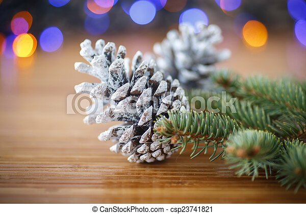 Christmas tree with cones - csp23741821
