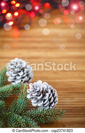 Christmas tree with cones - csp23741823
