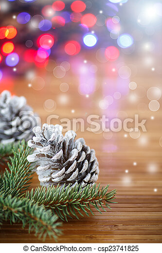 Christmas tree with cones - csp23741825