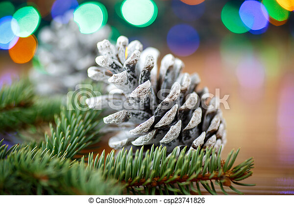 Christmas tree with cones - csp23741826