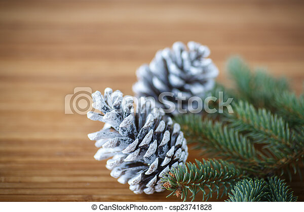 Christmas tree with cones - csp23741828