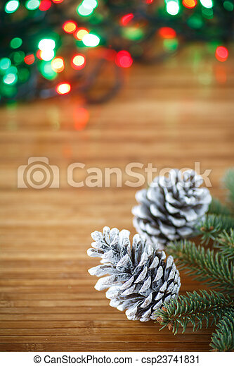 Christmas tree with cones - csp23741831