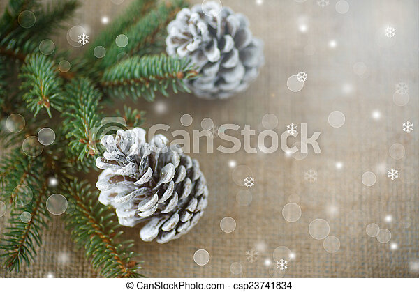 Christmas tree with cones - csp23741834
