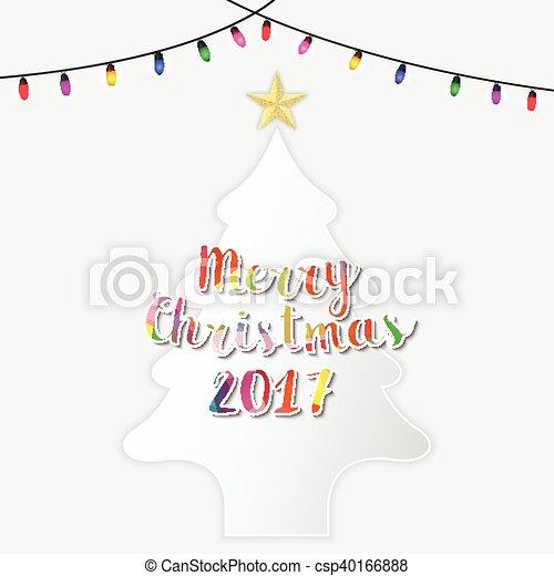 Christmas tree with light - csp40166888