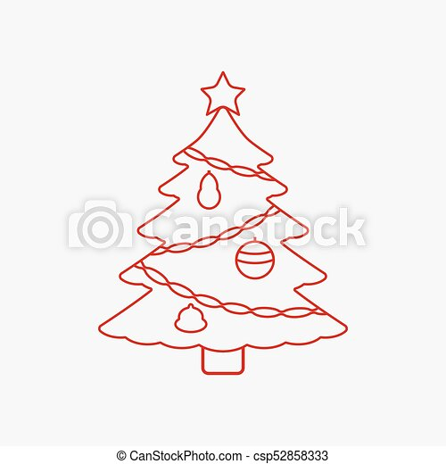 Christmas Tree With Star Icon