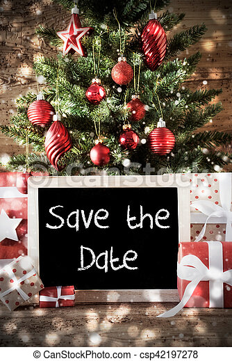 Christmas Save The Date Graphics.Christmas Tree With Text Save The Date