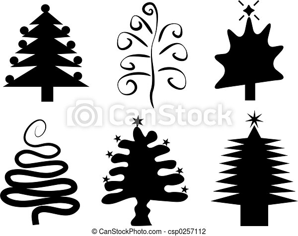 Christmas Trees Silhouette.Christmas Trees