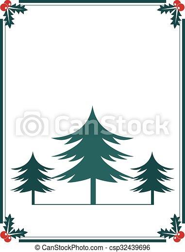 Christmas trees poster design - csp32439696
