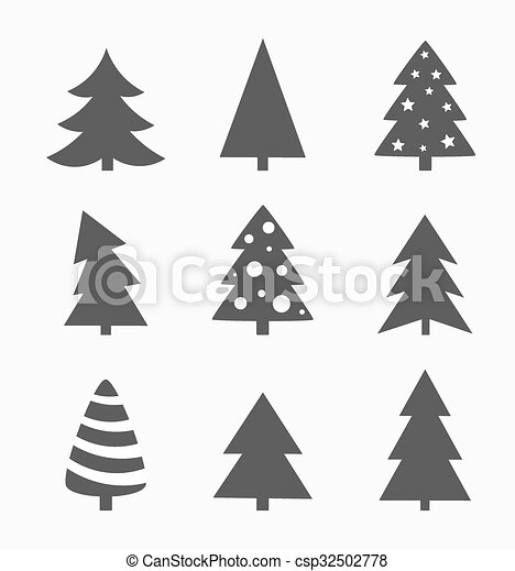 Christmas Shapes.Christmas Trees Shapes Collection