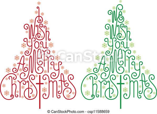 Christmas trees, vector - csp11588659