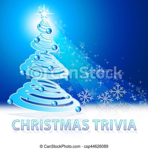 christmas trivia shows xmas facts 3d illustration - Christmas Trivia Facts