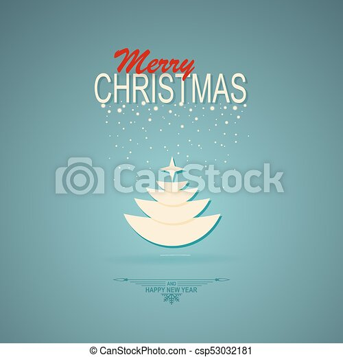 christmas turquoise design with christmas tree - csp53032181