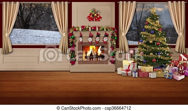christmas tv studio set 05 christmas tv studio set 05 virtual green screen - Christmas Tv Decoration