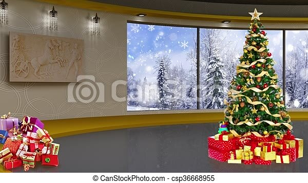 christmas tv studio set 07 christmas tv studio set 07 virtual green screen
