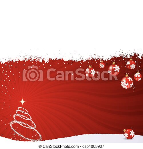 Christmas vector background - csp4005907