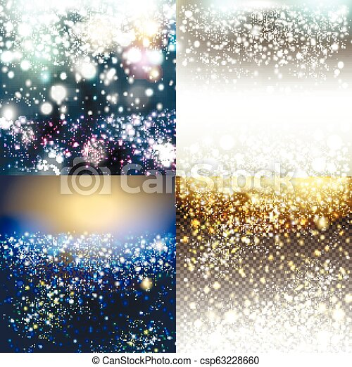 Christmas vector pack of shiny blurred backgrounds - csp63228660