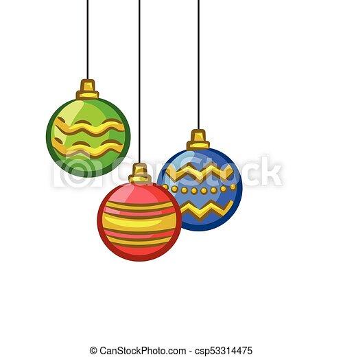Christmas Ornaments Vector.Christmas Vectors Hanging Ornaments
