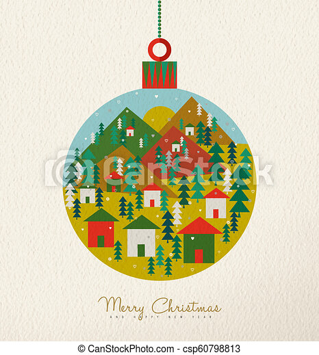 Christmas Holiday Clipart.Christmas Vintage Card Of Retro Holiday Bauble