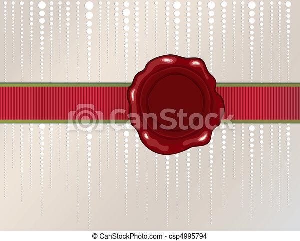 Christmas wax seal - csp4995794